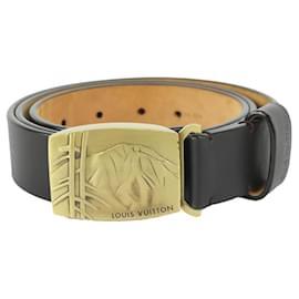 Louis Vuitton-Large 40/100 Black x Gold Japanese Mountain Belt-Other