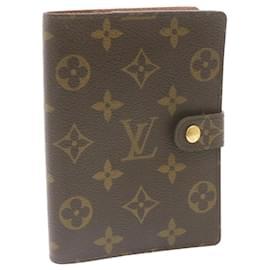 Louis Vuitton-Louis Vuitton Couverture agenda de poche-Brown