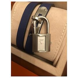 Hermès-Kelly lined tour watch-Blue