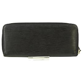 Louis Vuitton-Louis Vuitton Black Epi Clemence Wallet-Black