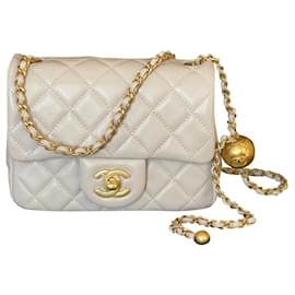 Chanel-Pearl Crush Square Mini Single Flap-Purple