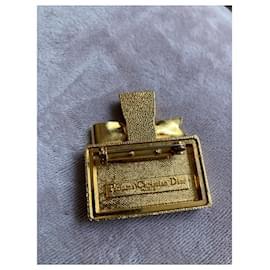 Dior-Superbe broche Dior Miss Dior-Bijouterie dorée