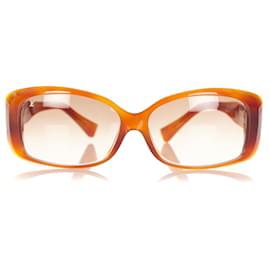 Louis Vuitton-Louis Vuitton Brown Square Tinted Sunglasses-Brown