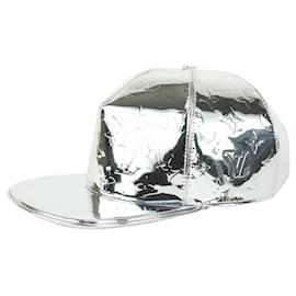 Louis Vuitton-Large 60 Metallic Silver Monogram Miroir Mirror Cap Baseball Hat 212l8-Other