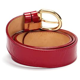 Louis Vuitton-Belt M6980W in Red-Red