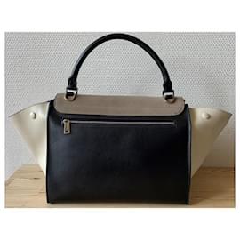 Céline-Handbags-Black,Cream,Taupe