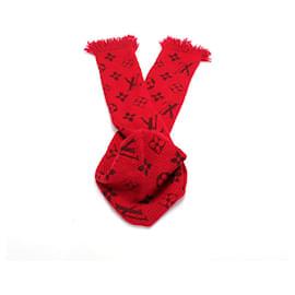 Louis Vuitton-Vuitton Ehalp Logocomania Muffler 413287 In red-Red