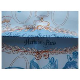 Hermès-square hermès lined sense della cavaleria favolosa avec boite-White