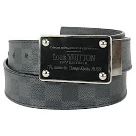 Louis Vuitton-95/38 Reversible Damier Graphite Inventeur Belt-Other