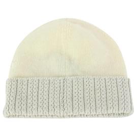 Louis Vuitton-Medium Cream Beanie Knit Wool and Cotton XS-Other