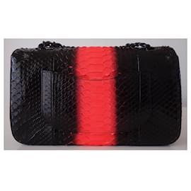 Chanel-CHANEL CLASSIC PYTHON BAG-Black