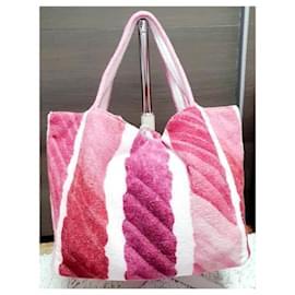 Chanel-Chanel shopper bag-Pink,White,Fuschia