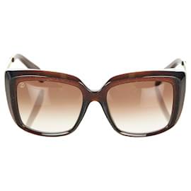 Louis Vuitton-Louis Vuitton Black Square Tinted Sunglasses-Black