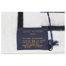 Louis Vuitton-Black x White Wool City Scarf-Other