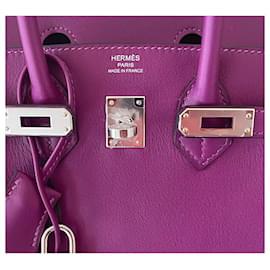 Hermès-Birkin 25-Roxo
