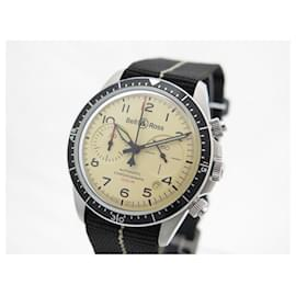 Bell & Ross-NEW BELL & ROSS BVR WATCH2-94 41 MM AUTOMATIC CHRONOGRAPH STEEL WATCH-Silvery