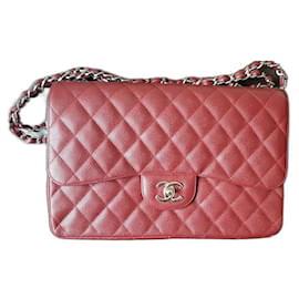 Chanel-Chanel Timeless Classic Jumbo Bag-Dark red