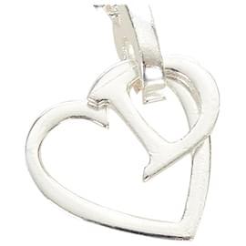 Dior-Collier Pendentif Coeur Argent Dior-Argenté