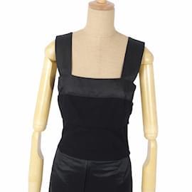 Louis Vuitton-[Used] Louis Vuitton LOUIS VUITTON Sleeveless Dress Dress 36 Wool Tops-Black