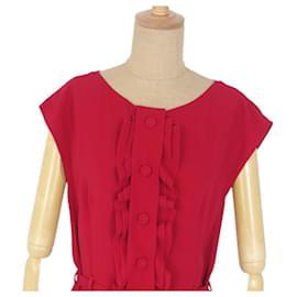 Prada-[Used] PRADA Sleeveless dress with belt 38 Tops Women's-Red