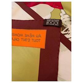 Hermès-Hermes 70 cm vintage silk scarf Quand Soudain-Multiple colors