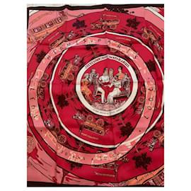 Hermès-Hermes 70 cm vintage silk scarf Jeu des Omnibus-Multiple colors