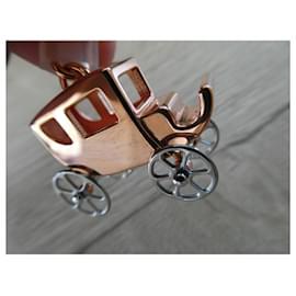 Hermès-Hermès caléche charm in rose gold plated steel for handbag or pendant-Gold hardware