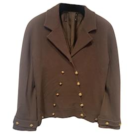 Chanel-Jackets-Brown