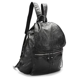 Balenciaga-Balenciaga Lambskin Traveller S Backpack-Black