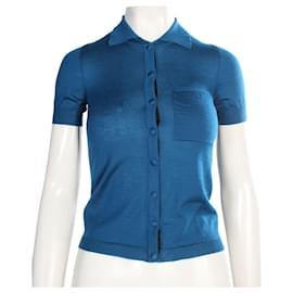 Balenciaga-Cashemere Blue Top-Blue