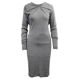 Balenciaga-Grey Knit Dress-Grey