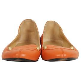 Balenciaga-Orange Arena Flats-Orange