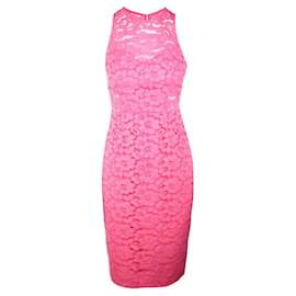 Trina Turk-Lace Midi Dress-Pink,Peach