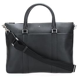 Montblanc-Montblanc Leather Briefcase-Black