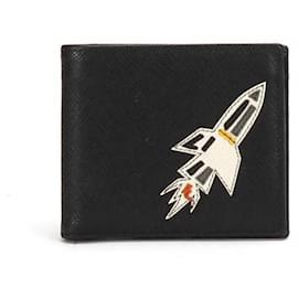 Prada-Prada Saffiano Bi-fold Wallet-Black