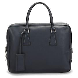 Prada-Prada Saffiano Briefcase-Black