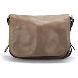 Hermès-Hermes Leather Messenger Bag-Brown