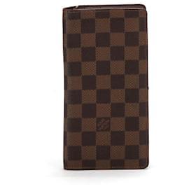 Louis Vuitton-Louis Vuitton Damier Ebene Brazza Wallet Brown-Brown