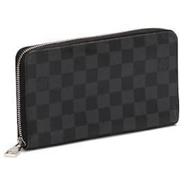 Louis Vuitton-Louis Vuitton Damier Graphite Zippy Organizer Wallet-Black
