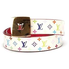 Louis Vuitton-Louis Vuitton Monogram Multicolore Ceinture Belt-White