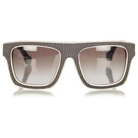 Balenciaga-Balenciaga Gray Square Tinted Sunglasses-Brown,Grey