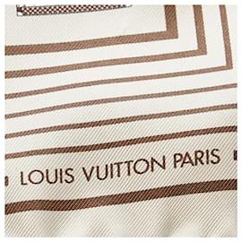 Louis Vuitton-Louis Vuitton Gray Printed Silk Scarf-Grey