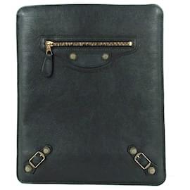 Balenciaga-Balenciaga Black Motocross Giant 12 iPad Case-Black