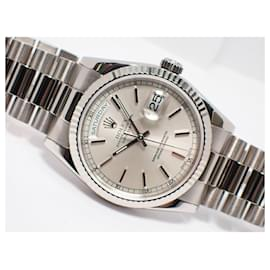 Rolex-ROLEX DAY DATE 18KWG silver Dial 118239 Genuine goods Mens-White