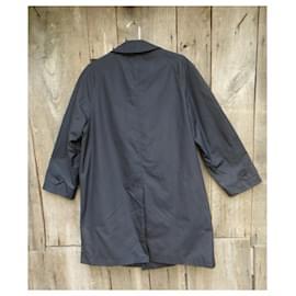 Burberry-waterproof man Burberry vintage size 50 in pure silk-Dark blue