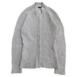 Alexander Mcqueen-[Used]  ALEXANDER MCQUEEN pattern knit jacket blouson sweater wool old vintage archive 42 M gray ladiesgrayNotation sizeLadies 42 M equivalent Actual sizeWidth: 40cm length: 64cm Yuki Length: 82cm 100% hair19,900  420-Grey