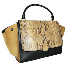 Céline-Python Trapeze Handbag-Multiple colors