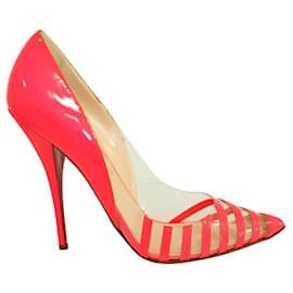 Christian Louboutin-Neon Pink Pivichic Heels-Pink