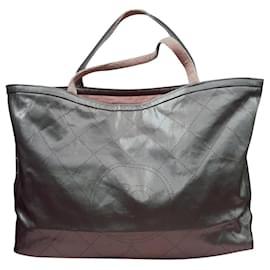 Chanel-Chanel XL chopper bag-Silvery,Pink