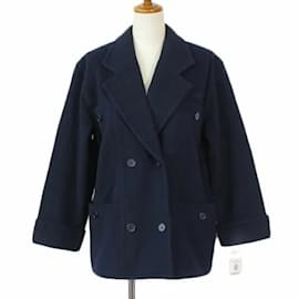 Givenchy-[Used] GIVENCHY ENFANTS Vintage P coat Pea coat Wool 150 Domestic regular navy blue navy kids [Vector old clothes] 210515-Navy blue